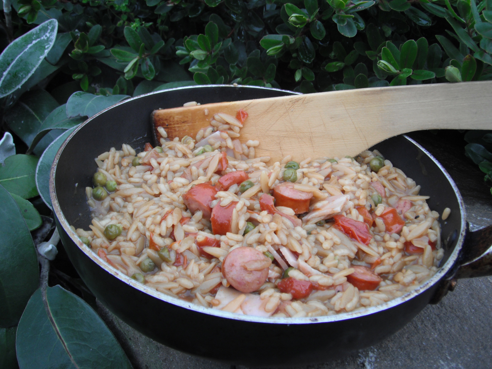 Bacon & Sausage  Risotto