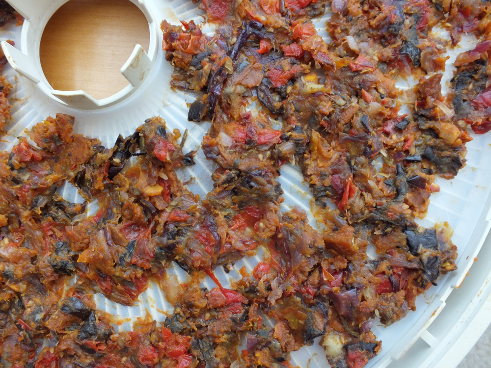 Dehydrated roast vegetables