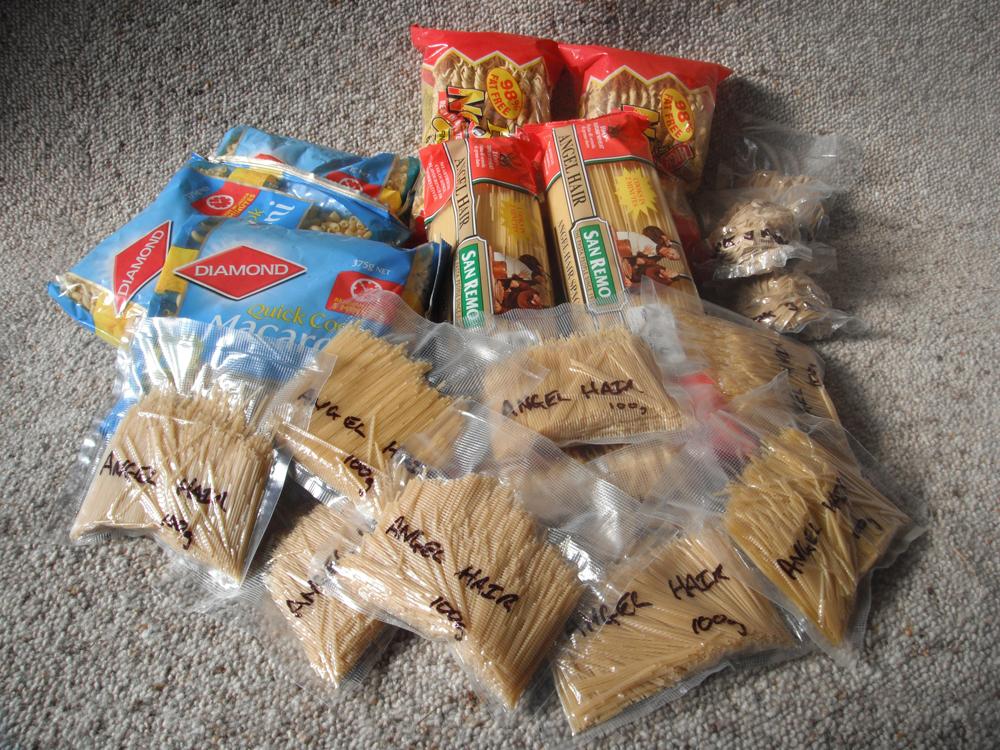 Pasta packing