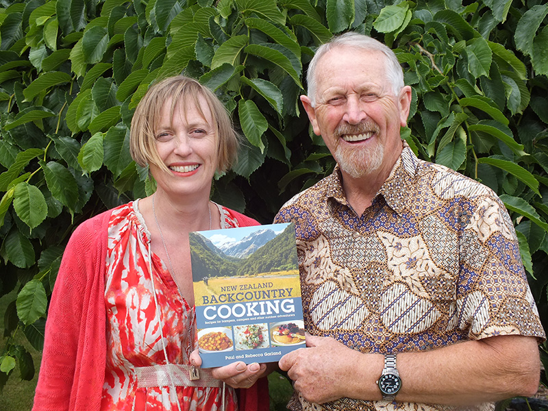 Paul and Rebecca Garland with New Zealand Backcountry Cooking